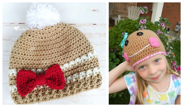 Christmas Gingerbread Hat Free Crochet Patterns