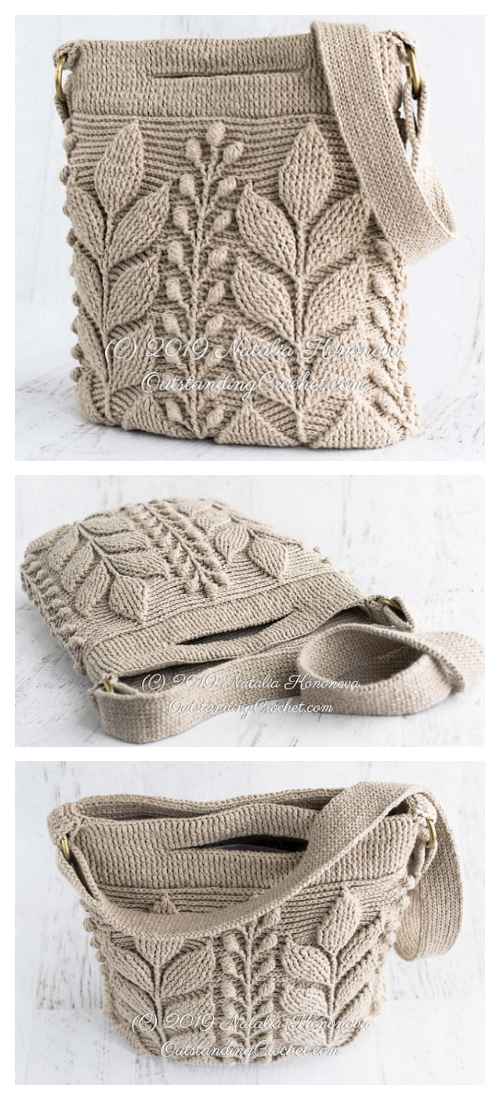 Spica Embossed Bag Crochet Patterns