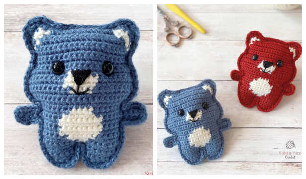 Crochet Pocket Bear Amigurumi Free Pattern