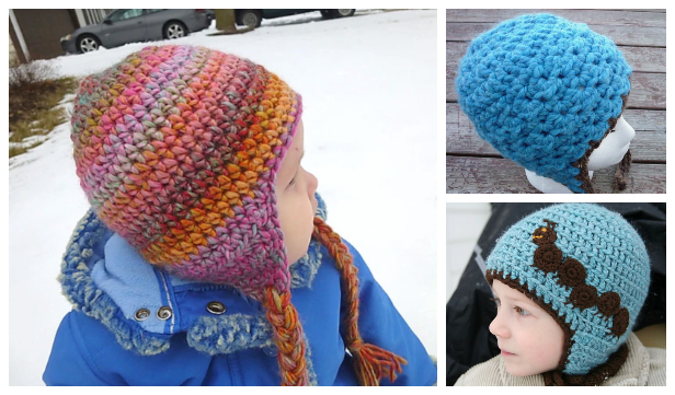 Simple Seamless Earflap Hat Free Crochet Patterns