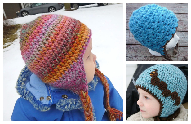 Simple Earflap Hat Free Crochet Patterns