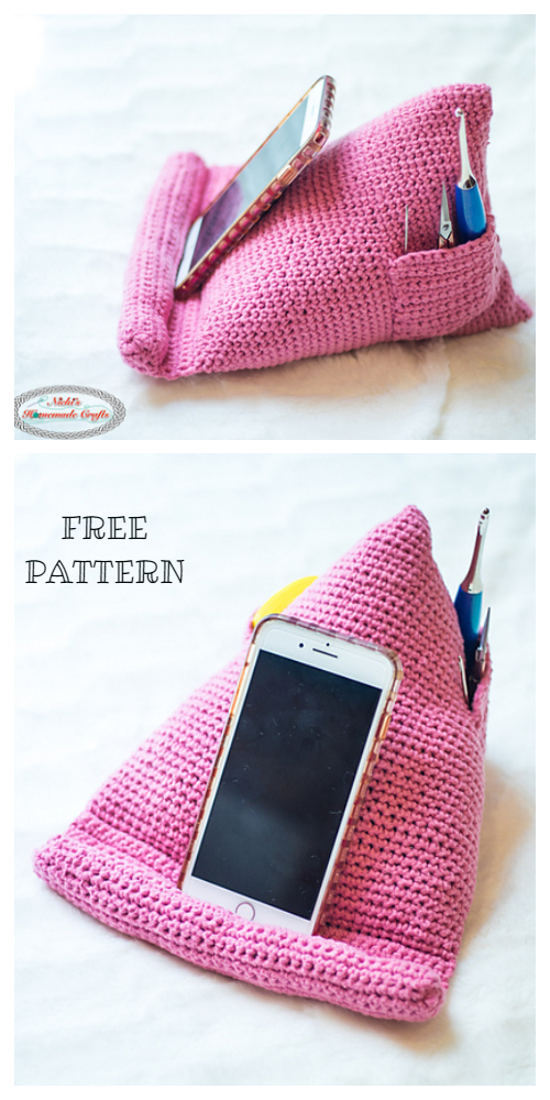 Phone Tablet Book Stand Gifts Free Crochet Patterns