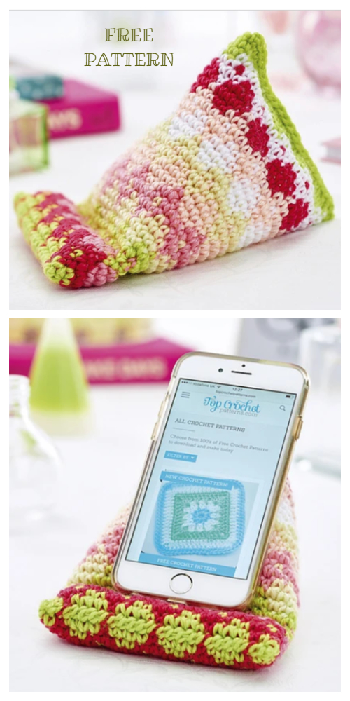 Desk mate  Phone Stand Gifts Free Crochet Patterns