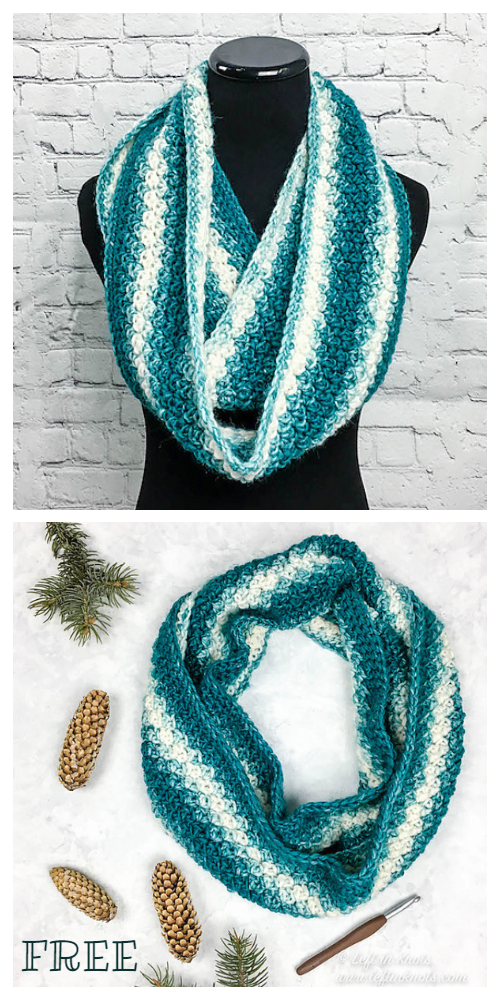 Winter Snowball Slouch Cowl, Hat & Mitten Set Free Crochet Patterns