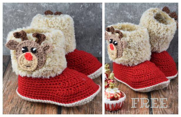 Amelia Booties Free Crochet Pattern