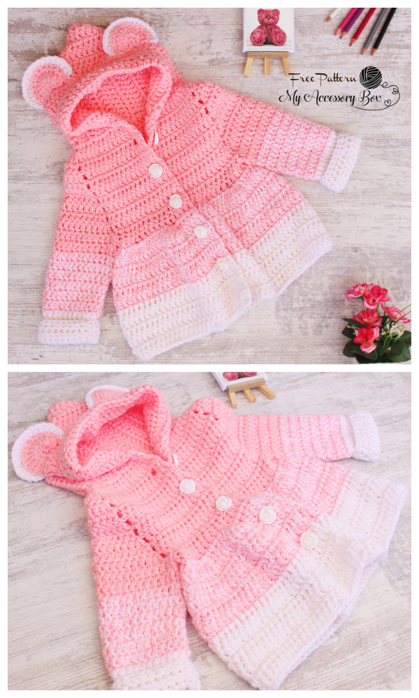 Easy Teddy Bear Jacket Free Crochet Pattern