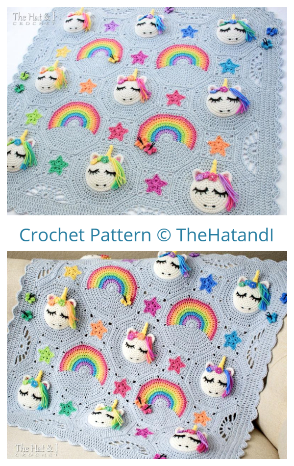 Unicorn Utopia Blanket Crochet Patterns