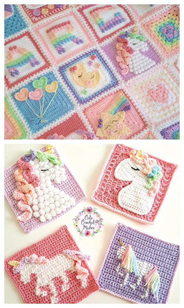 Unicorn Dreams Blanket Crochet Patterns