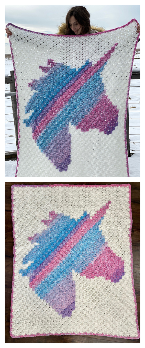C2C Unicorn Dreams Blanket Free Crochet Patterns