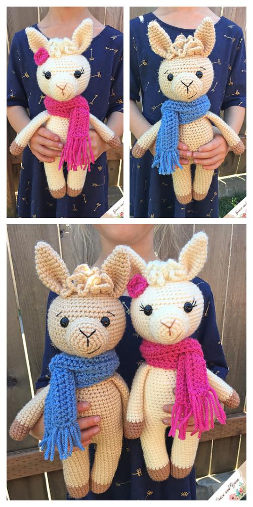 Crochet Llama Toy Amigurumi Free Pattern