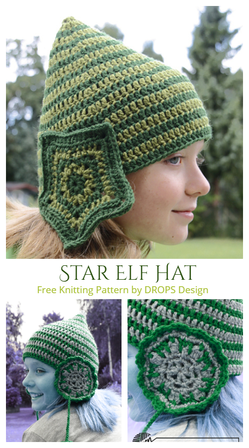 Christmas Star Elf Hat Free Crochet Patterns