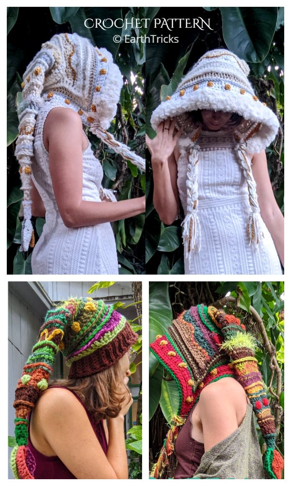 Fae Elf Hood Crochet Patterns