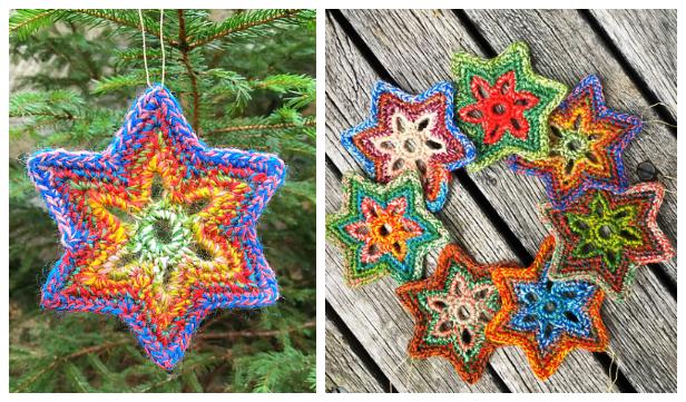 Christmas Star Ornament Free Crochet Patterns