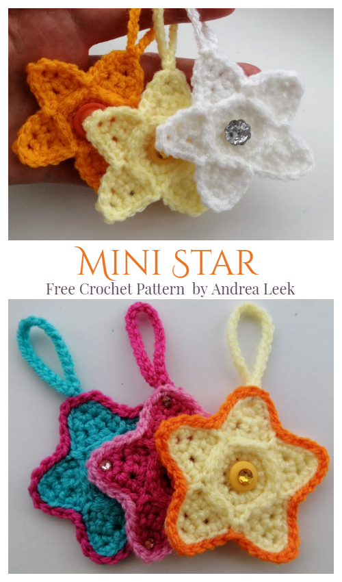 Christmas Mini Star Ornament Free Crochet Patterns
