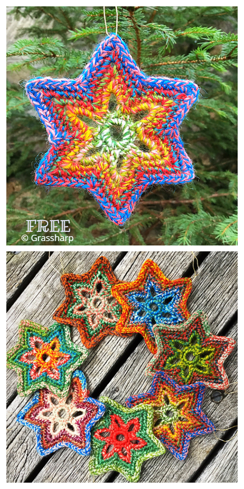 Christmas Star Ornament Free Crochet Patterns