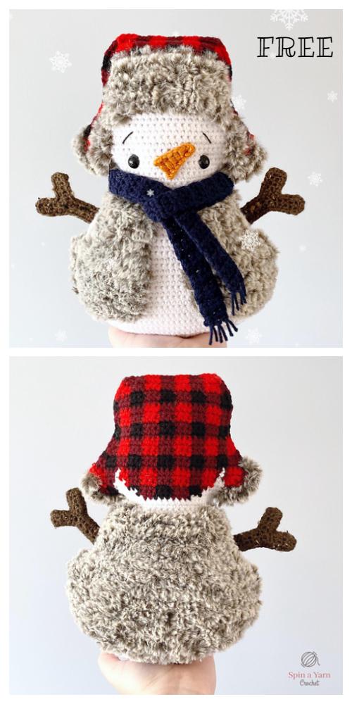 Cozy Crochet Snowman Amigurumi Free Patterns