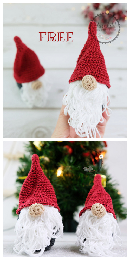 Crochet Nordic Christmas Gnomes Amigurumi Free Patterns