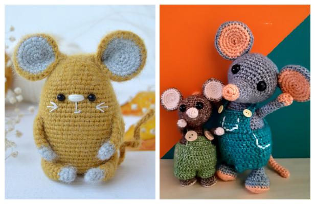 Cute Crochet Little Mouse Amigurumi Free Patterns