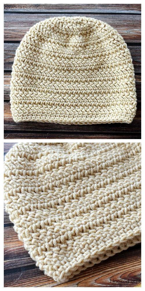 Herringbone Slouch Hat Free Crochet Patterns