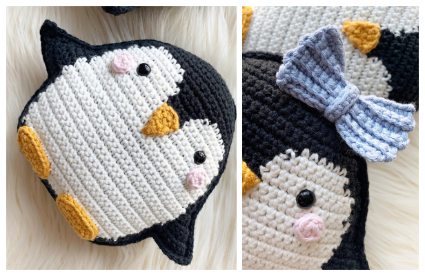 Penguin Ragdoll Cushion Free Crochet Pattern