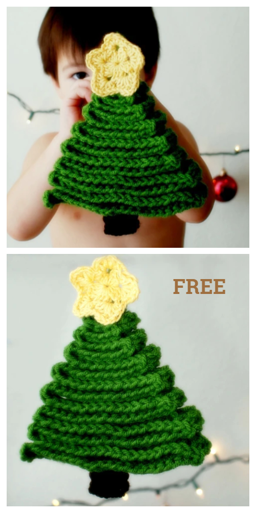 Ribbon Christmas Tree Ornament Free Crochet Patterns