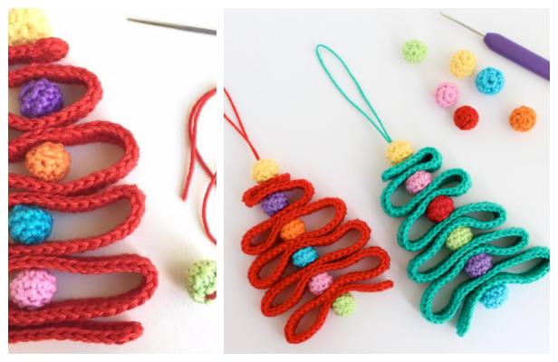 Ribbon Christmas Tree Ornament Free Crochet Patterns