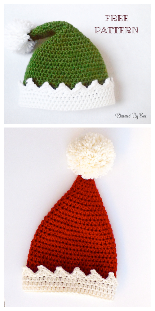 Santa's Helper Elf Hat Free Crochet Patterns
