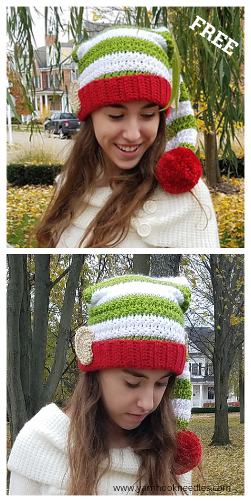 Adult Elf Hat Free Crochet Patterns