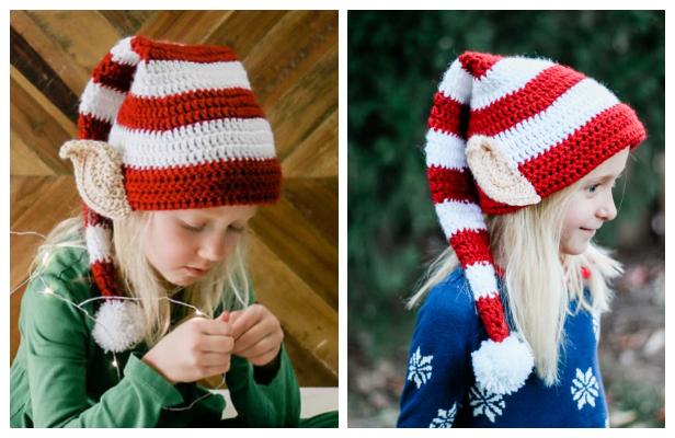Santa's Helper Elf Hat Free Crochet Patterns