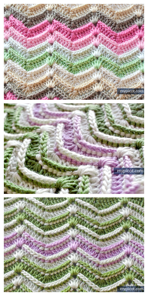 Textured Wave Stitch Free Crochet Pattern