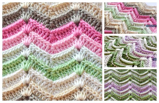 Textured Wave Stitch Free Crochet Pattern
