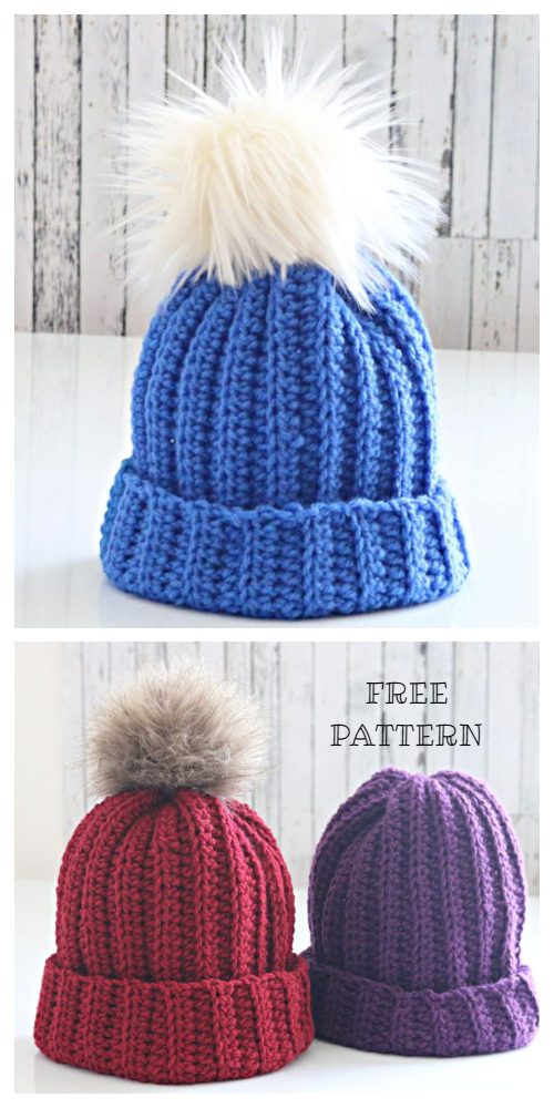 The Easiest Hat Free Crochet Patterns
