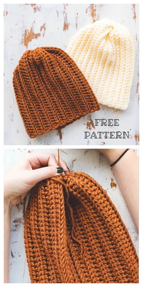 Brooklyn Ridge Easy Hat Free Crochet Patterns