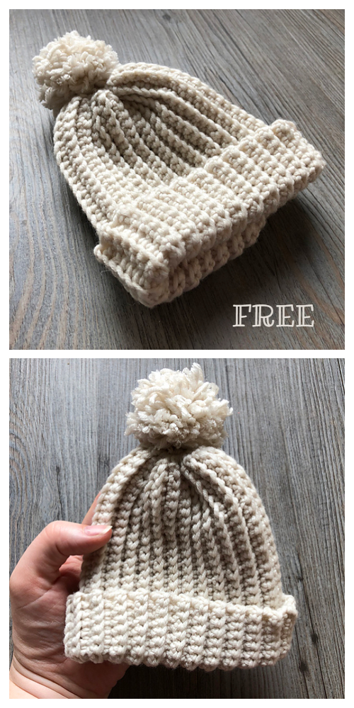 The Easiest Kids Hat Free Crochet Patterns