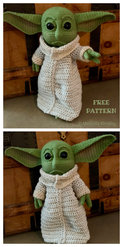 Ravelry: The Child/Baby Yoda Amigurumi pattern by hooked on fandom | 1000x500