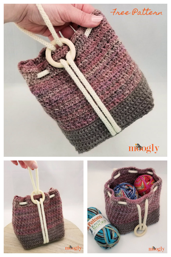 Ring Rose Bag Free Crochet Patterns