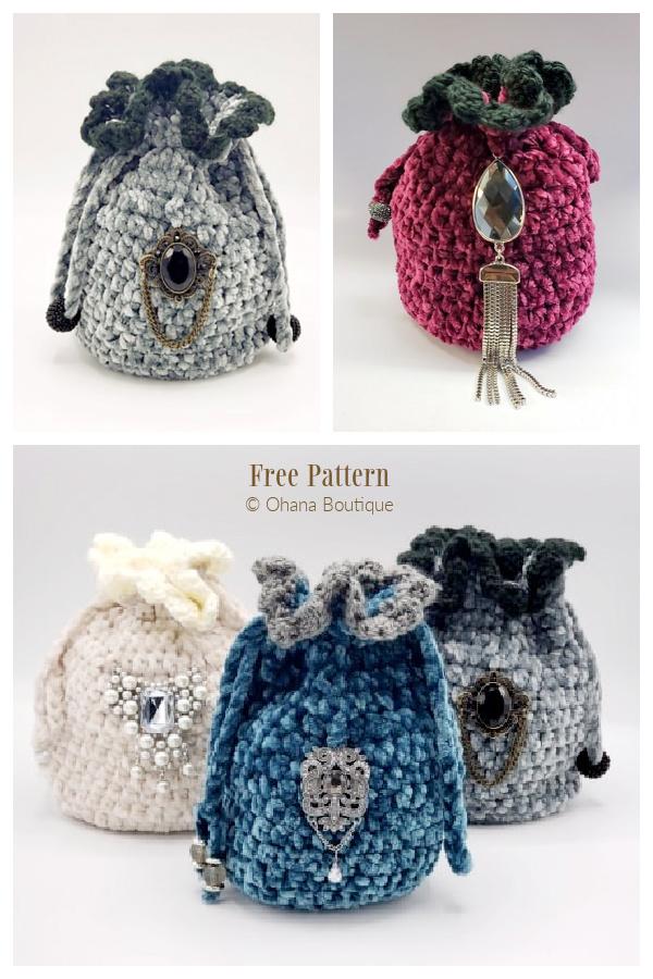 Summer Slice Drawstring Bag Free Crochet Patterns