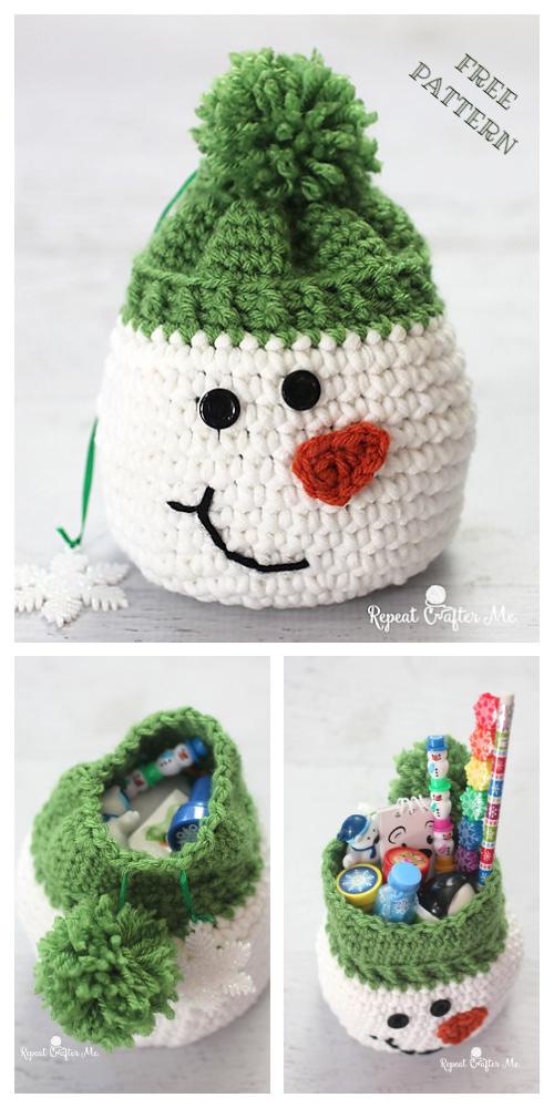 SNOWMAN WITH LIGHTS || Crochet Pattern | Horgolás, Kreatív hobbi ... | 1000x500