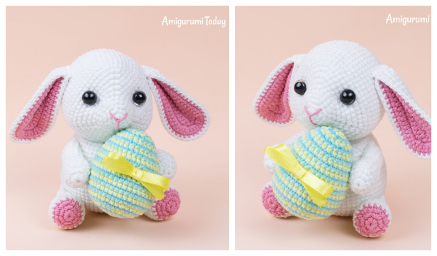 Adorable Crocheted White Rabbit [FREE Crochet Pattern] - The ... | 361x616