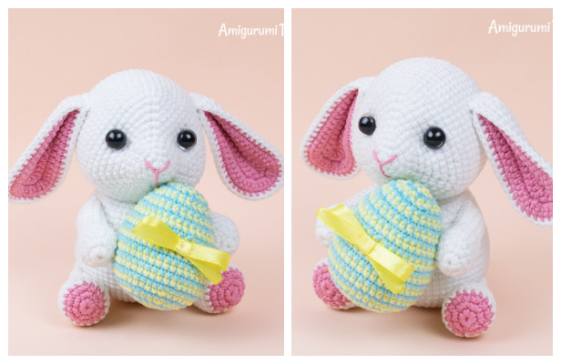 Amigurumi Easter Bunny with Egg Free Crochet Patterns