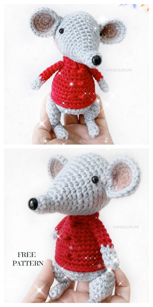 Amigurumi New Year Mouse Free Crochet Patterns