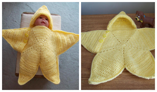 Baby Star Wrap Blanket Free Crochet Patterns