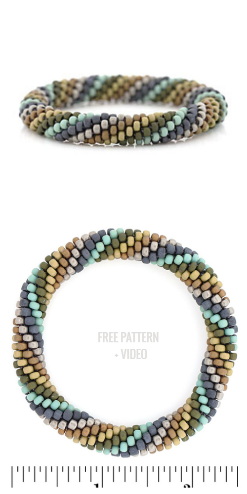 Midnight Ocean Boho Bead Bracelet Free Crochet Patterns+ Video