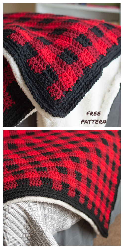 Buffalo Plaid Baby Blanket Free Crochet Patterns