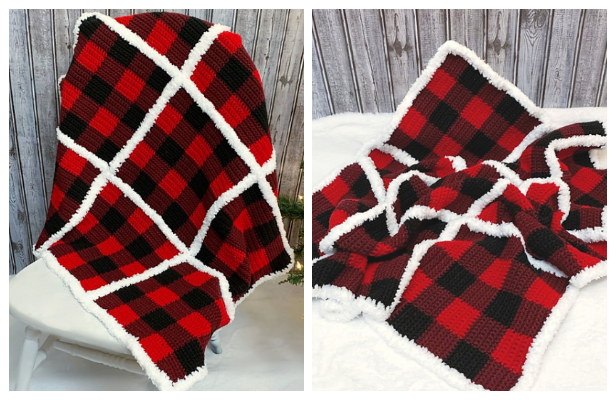 Buffalo Plaid Blanket Free Crochet Patterns