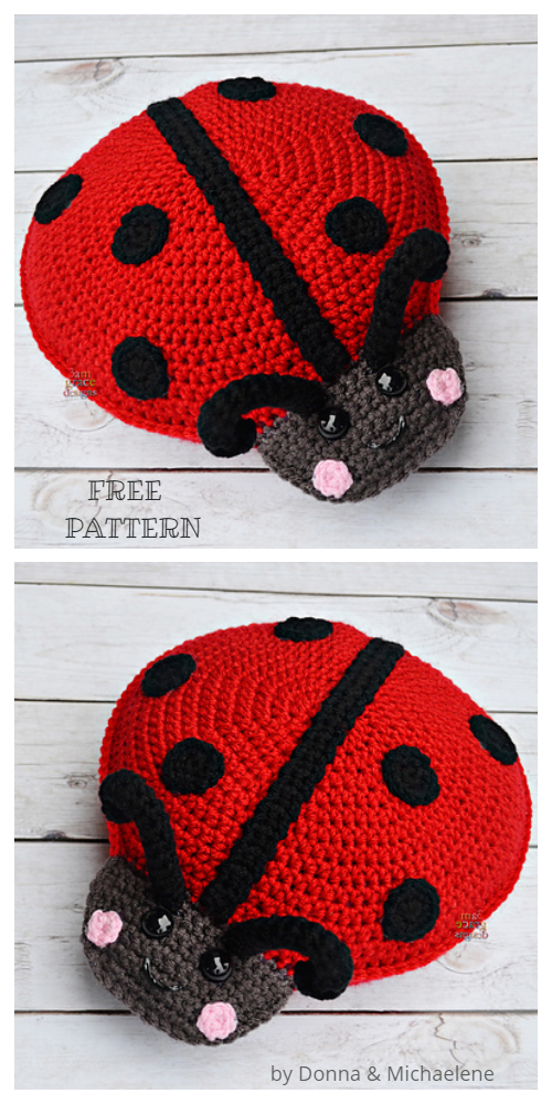 Crochet Ladybug Cuddler Amigurumi Free Patterns