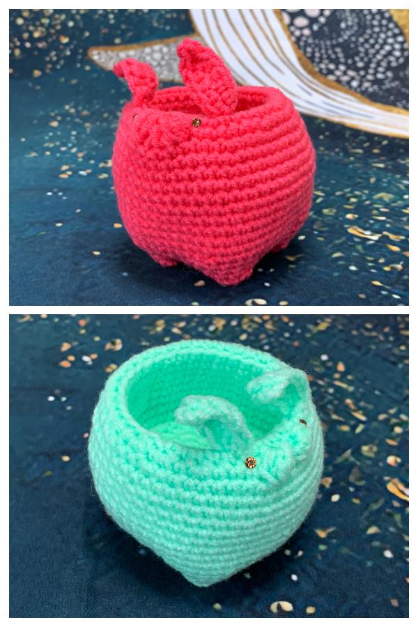 Easter Rabbit Mini Basket Free Crochet Patterns
