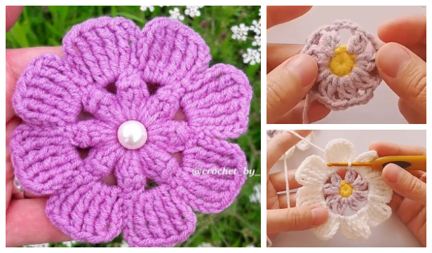 Easy Spring Flower Free Crochet Patterns + Video