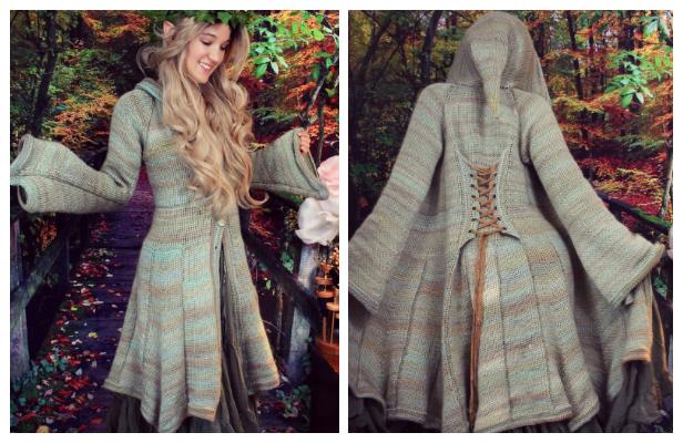 Fantasy Elf Coat Free Crochet Pattern