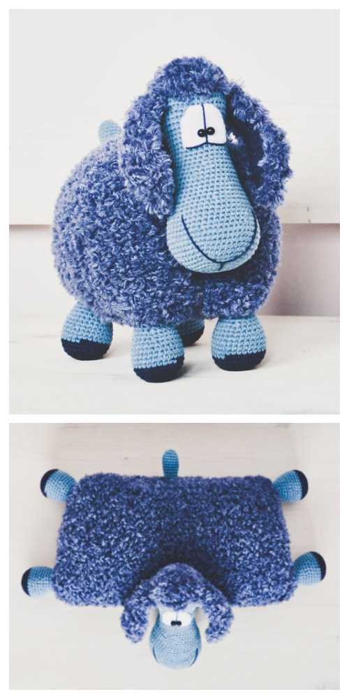 Lamb Sheep Pillow Free Crochet Pattern & Paid
